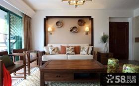 美式乡村风格小户型客厅装修