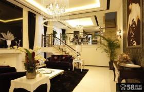 欧式风格客厅铁艺楼梯图片