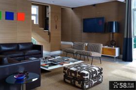 简单家装客厅电视墙装修效果图