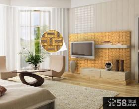 客厅电视背景墙颜色搭配效果图