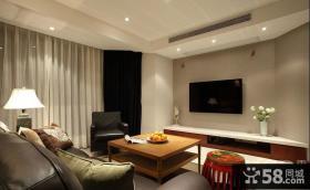 中式客厅电视背景墙效果图图片