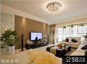 优质客厅电视背景墙壁纸图片