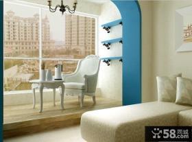 地中海风格客厅小阳台装修