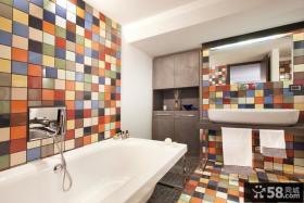 整体卫生间瓷砖效果图