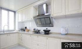简约风格家居L型厨房装修图片