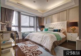 时尚美式复式主人卧室图片2014