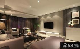 简单客厅电视背景墙装修效果图大全2013图片