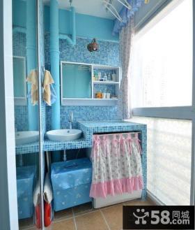 地中海风格卫生间阳台设计图片
