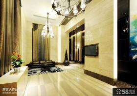 别墅大客厅瓷砖电视背景墙装修效果图