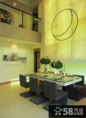复式室内豪华餐厅设计图片大全