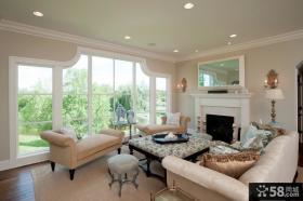 美式乡村风格别墅客厅图片