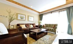 美式家居风格三居室装修效果图
