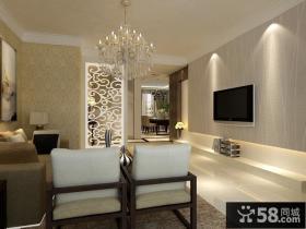 客厅电视背景墙装修效果图大全2013图欣赏