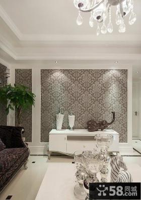新古典风格两室两厅客厅背景墙装修
