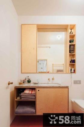 简约风格公寓浴室柜设计图片