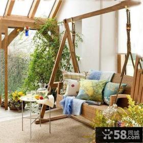开放式客厅阳台装修效果图大全2012图片