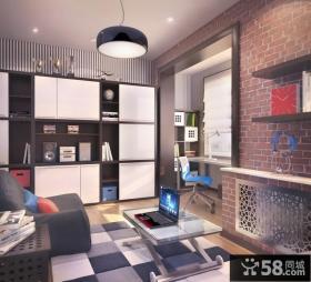 125平现代时尚复式楼装修效果图