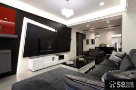 现代设计客厅电视背景墙效果图