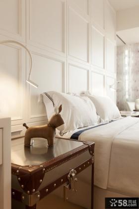 简欧卧室床头背景墙装修效果图
