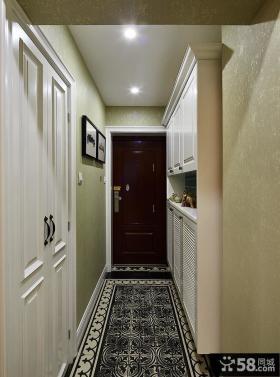 新古典风格室内玄关装饰设计效果图