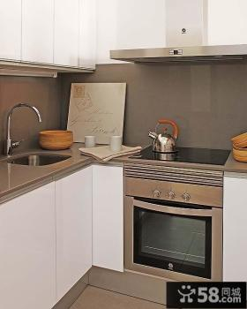 80后喜欢的欧式现代风格小户型厨房橱柜装修效果图大全2012图片
