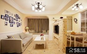地中海简约风格三居室设计装修效果图片