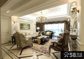 美欧设计室内客厅吊顶效果图大全