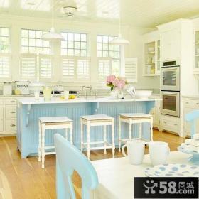 12万打造唯美温馨的室内欧式厨房橱柜装修效果图