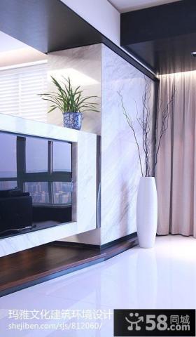 2013现代客厅影视墙效果图