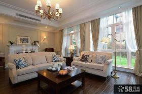 休闲美式风格客厅沙发效果图