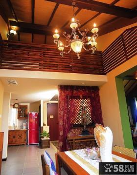东南亚复式楼房客厅装修效果图
