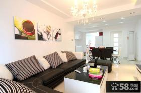 现代简约风格客厅沙发效果图片