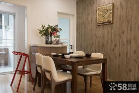 北欧原木风格餐厅设计装修