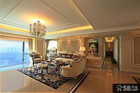 欧式风格客厅吊顶装饰效果图