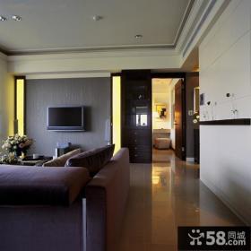 现代室内电视背景墙装饰效果图