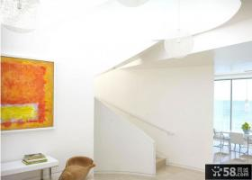 120平米复式楼客厅电视墙柜装修效果图