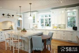 简欧风格整体大厨房装修图片大全