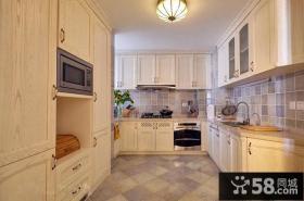 美式田园风格别墅厨房设计