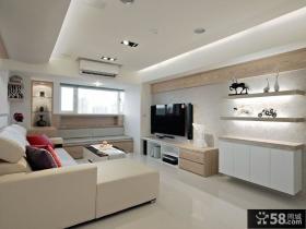 时尚简约设计客厅电视背景墙效果图