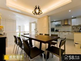 复式楼餐厅与厨房隔断设计效果图