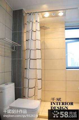 现代风格卫生间浴室窗帘