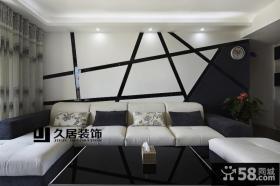 现代风格客厅沙发背景墙设计欣赏