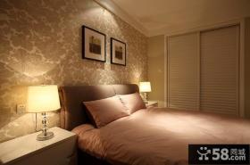 简约卧室壁纸装修效果图