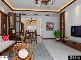 新中式风格客厅电视背景墙效果图欣赏