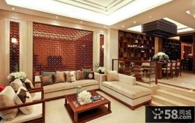 新中式风格别墅室内客厅装修设计