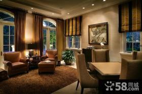 12万打造中式内敛的小户型客厅吊顶装修效果图