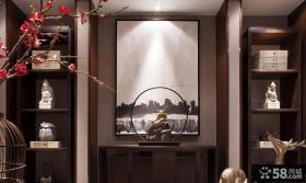 中式风格装饰别墅室内设计效果图