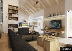 现代室内设计客厅电视背景墙图片欣赏