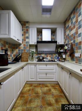 美式复古风格厨房设计装修图片