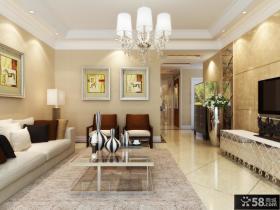 三居客厅装修效果图大全2013图片